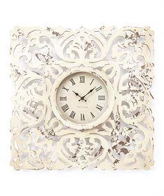 Love this Distressed Clock on #zulily! #zulilyfinds