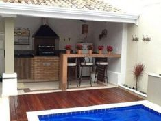 piscinas i ui Outdoor Spaces, Outdoor Living, Outdoor Decor, Moderne Pools, Small Pool Design, Outdoor Kitchen Design, Pool Designs, Home Projects, House Plans
