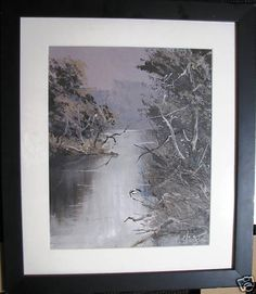 Australian Artist Patrick Shirvington s original oil titled Lost Light Australian Artists, Trees, Lost, The Originals, World, Painting, Tree Structure, Painting Art, Paintings