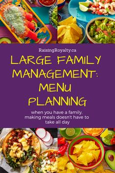 Ideas for Meal Planning for Large Families ~ Raising Royalty Large Family Meals, Big Family, Large Families, Chicken Fahitas, Dinner Menu, Dinner Recipes, Eat Lunch, Pancakes And Waffles, Menu Planning