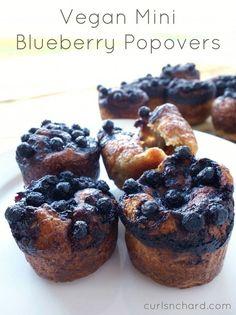 Vegan Mini Blueberry Popovers | curlsnchard.com