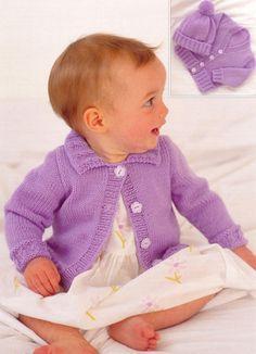 Sirdar - 3107 - Jacket, Cardigan and Hat (birth - age 6)