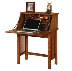 Amish Made Solid Wood Meadowbrook Secretary Desk