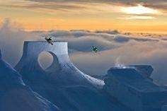Speechless. #freeski #ski #sunset #snow #bluetomato #actionsports