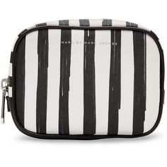 Marc by Marc Jacobs Flower Paint Large Box Striped Cosmetic Case (765 ARS) ❤ liked on Polyvore featuring beauty products, beauty accessories, bags & cases, bags, white, cosmetic bag, wash bag, cosmetic purse, toiletry bag and travel kit