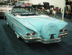 1958 Chevy Impala convertible with continental kit