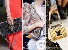 Runway Spring/ Summer 2017 Handbag Trends: Metallic Bags/ Purses