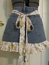 Cutest Crafts Made from Recycled denim: recycled jeans apron