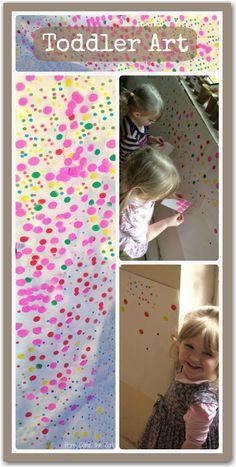 Toddler art idea - lots of fun and virtually no mess.