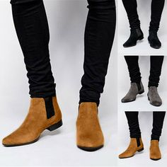 Mens Suede Chukka Boots, Mens Ankle Boots, Brown Leather Ankle Boots, Suede Leather, Ankle Boots Dress, Dress With Boots, Ankle Shoes, Flat Shoes, Dress Shoes