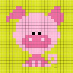 ideas for crochet animals disney cross stitch Pixel Crochet, C2c Crochet, Crochet Cross, Crochet Diagram, Tapestry Crochet, Crochet Chart, Tiny Cross Stitch, Cross Stitch Animals, Cross Stitch Charts