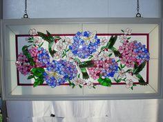 Stained glass hydrangeas