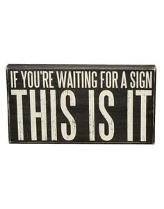"""""""This Is It"""" Rustic Wall Decor Box Sign"""