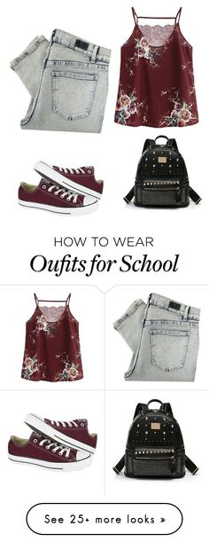 """Untitled #806"" by weirdzebra on Polyvore featuring Cheap Monday and Converse"
