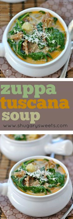 Creamy, delicious Zuppa Toscana Soup. Copycat recipe based off the original from Olive Garden!