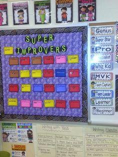 Super Improver Wall {Whole Brain Teaching}