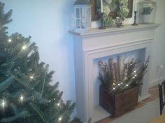 my faux fireplace