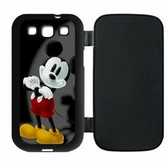 Amazon.com: Mystic Zone Custom Mickey Mouse Flip Cover Case for Samsung Galaxy S3 I9300 (Black,White,Pink) SKU-PUSSI0081: Cell Phones & Acce...