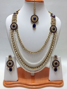 bridal sets & bridesmaid jewelry sets – a complete bridal look Pakistani Jewelry, Bollywood Jewelry, Indian Bridal Party, Wedding Jewellery Inspiration, Indian Jewelry Sets, Bridesmaid Jewelry Sets, Bridal Sets, Wedding Jewelry, Wedding Accessories
