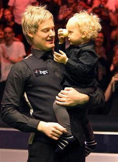 Neil Robertson with son Neil Robertson, Sons, People, Masters, Activities, Google Search, Guys, People Illustration, Boys