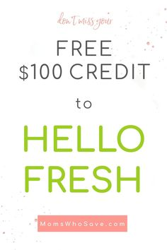 Everyone Gets a Free $100 Credit to HelloFresh PLUS Check Out Military Discounts! #cooking #HelloFresh #deals #militarydiscounts #veteransdiscount #Milspouse #MilitarySpouse #milfam #military