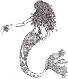 Mermaid Line-art by ~demik109 on deviantART