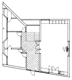 Section + Plan : Ghost House, Franklin Court, Philadelphia