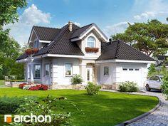 Dom w rukoli Beautiful House Plans, Beautiful Homes, Exterior House Colors, Exterior Design, Architectural House Plans, Bungalow House Design, Cute House, Design Case, Home Fashion