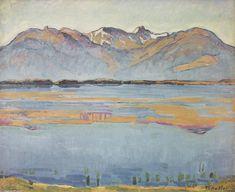 Montanasee, huile sur toile de Ferdinand Hodler (1853-1918, Switzerland)