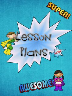 This link has several different ADORABLE lesson plan covers! -camping, cowboys, super heroes, jungle, cupcakes, dots