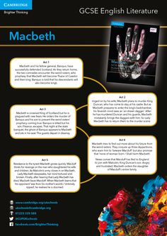 View our revision tool for Macbeth available in poster format