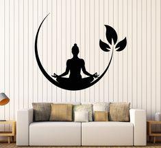 Vinyl Wall Decal Yoga Meditation Room Buddhist Zen Stickers Unique Gift (ig4132)