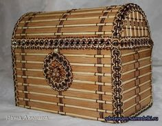 Cardboard napkin chest and wood Fun Crafts For Kids, Diy And Crafts, Paper Crafts, Popsicle Crafts, Cardboard Paper, Popsicle Sticks, Pirate Party, Wood Boxes, Master Class