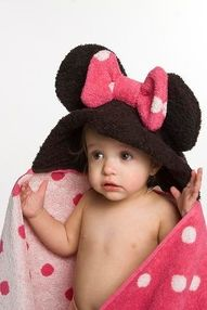 mickey mouse hooded towel diy - Google Search lily would love