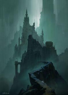 Dark Fantasy Art, Fantasy Concept Art, Fantasy City, Fantasy Castle, Fantasy Kunst, Fantasy Places, Fantasy Artwork, Fantasy World, Dark Artwork