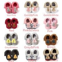 Wish | Baby Infant Soft PU Leather Tassel Moccasins Girls Bow Moccs Booties Shoes Moccasin Bow shoes