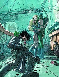 Green Arrow/Black Canary #18 jose ladronn