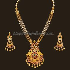 Small Basara Pearls Chains Pendant | Jewellery Designs