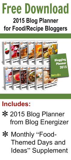 If you're a food or lifestyle blogger – even if you just share recipes occasionally on your blog – this planner is here to come to your rescue!  #blogging #free #download