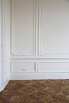 Paneling and beautiful flooring ...