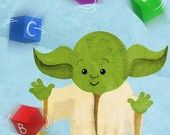 Baby Star Wars - Set of six 5x7 prints. $39.00, via Etsy.