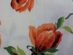 Items similar to Vintage peach floral fabric on an off white background. By the yard. on Etsy Floral Fabric, Off White, 1960s, Peach, Yard, Cotton, Painting, Etsy, Vintage