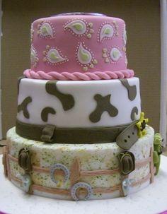 30th Birthday Cowgirl Cake (Side 2)