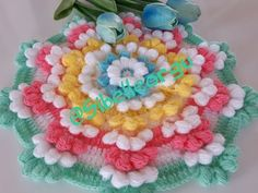 YouTube Crochet Stitches Patterns, Crochet Chart, Crochet Motif, Crochet Designs, Crochet Doilies, Easy Crochet, Crochet Flowers, Stitch Patterns, Crochet Toilet Roll Cover