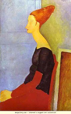 Amedeo Modigliani. Portrait of Jeanne Hébuterne  in Profile.