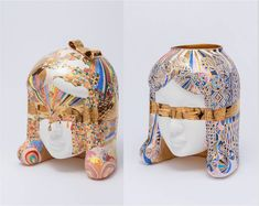 Lee Yun Hee is a very popular Korean ceramic artist. Her ceramic works consists of layers of variously sized units and the splendid patterns and colors create beautifully delicate and refined artwork that has come to define Lee's artistic style.