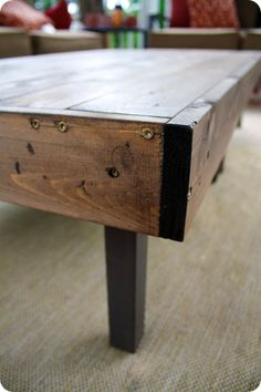 DIY wood table cover - I'd rather have this as my tabletop for our dining table.  Much more work, but won't destroy the table in the process.