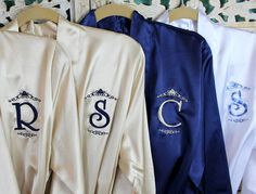 8f34514b2f 10 Bridesmaid Robes - Set of TEN - Monogrammed Robes - Bridesmaid Gifts -  Personalized Robes - Affordable - Bridal Party - Embroidered