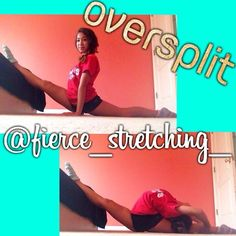 Hey everyone! I hope you all are having a great summer! Oversplits are really helpful for flexibility both front and back! Put your front leg on a high surface (it can be as high or as low as you can go, a good starter height could be around 4 inches or so). Make sure your hips are square, toes are pointed, as push your hips to the ground. Lean forward to stretch your heelstretch and lean back to stretch your needle! Hope this helped don't forget to tag your progress to #flexifreaks ♡Viv
