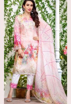 Pink Digital Printed Suit - Desi Royale